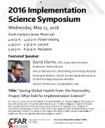 Seattle event: Implementation Science and Gorik Ooms (May 11, 2016)