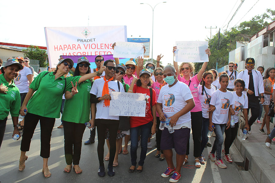 HAI Timor Staff March in Take Back the Street