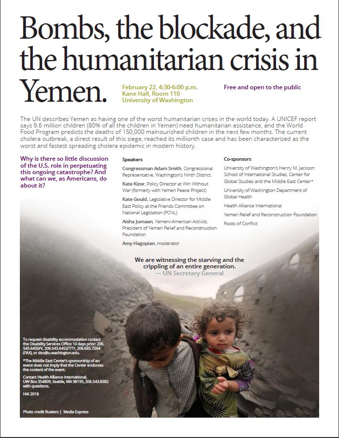 Yemen Panel Announcement- February 22nd